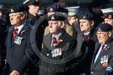 Remembrance Sunday at the Cenotaph in London 2014: Group B30 - 16/5th Queen's Royal Lancers. Press stand opposite the Foreign Office building, Whitehall, London SW1, London, Greater London, United Kingdom, on 09 November 2014 at 12:13, image #1878