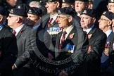 Remembrance Sunday at the Cenotaph in London 2014: Group B30 - 16/5th Queen's Royal Lancers. Press stand opposite the Foreign Office building, Whitehall, London SW1, London, Greater London, United Kingdom, on 09 November 2014 at 12:13, image #1892