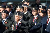Remembrance Sunday at the Cenotaph in London 2014: Group B30 - 16/5th Queen's Royal Lancers. Press stand opposite the Foreign Office building, Whitehall, London SW1, London, Greater London, United Kingdom, on 09 November 2014 at 12:13, image #1894