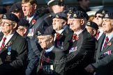 Remembrance Sunday at the Cenotaph in London 2014: Group B30 - 16/5th Queen's Royal Lancers. Press stand opposite the Foreign Office building, Whitehall, London SW1, London, Greater London, United Kingdom, on 09 November 2014 at 12:13, image #1897