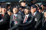 Remembrance Sunday at the Cenotaph in London 2014: Group B30 - 16/5th Queen's Royal Lancers. Press stand opposite the Foreign Office building, Whitehall, London SW1, London, Greater London, United Kingdom, on 09 November 2014 at 12:13, image #1898