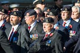 Remembrance Sunday at the Cenotaph in London 2014: Group B30 - 16/5th Queen's Royal Lancers. Press stand opposite the Foreign Office building, Whitehall, London SW1, London, Greater London, United Kingdom, on 09 November 2014 at 12:13, image #1899