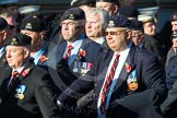 Remembrance Sunday at the Cenotaph in London 2014: Group B30 - 16/5th Queen's Royal Lancers. Press stand opposite the Foreign Office building, Whitehall, London SW1, London, Greater London, United Kingdom, on 09 November 2014 at 12:13, image #1900