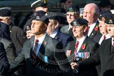 Remembrance Sunday at the Cenotaph in London 2014: Group B30 - 16/5th Queen's Royal Lancers. Press stand opposite the Foreign Office building, Whitehall, London SW1, London, Greater London, United Kingdom, on 09 November 2014 at 12:13, image #1902