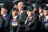 Remembrance Sunday at the Cenotaph in London 2014: Group B30 - 16/5th Queen's Royal Lancers. Press stand opposite the Foreign Office building, Whitehall, London SW1, London, Greater London, United Kingdom, on 09 November 2014 at 12:13, image #1903