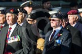 Remembrance Sunday at the Cenotaph in London 2014: Group B30 - 16/5th Queen's Royal Lancers. Press stand opposite the Foreign Office building, Whitehall, London SW1, London, Greater London, United Kingdom, on 09 November 2014 at 12:13, image #1905