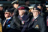 Remembrance Sunday at the Cenotaph in London 2014: Group B30 - 16/5th Queen's Royal Lancers. Press stand opposite the Foreign Office building, Whitehall, London SW1, London, Greater London, United Kingdom, on 09 November 2014 at 12:13, image #1906