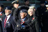Remembrance Sunday at the Cenotaph in London 2014: Group B30 - 16/5th Queen's Royal Lancers. Press stand opposite the Foreign Office building, Whitehall, London SW1, London, Greater London, United Kingdom, on 09 November 2014 at 12:13, image #1908