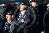 Remembrance Sunday at the Cenotaph in London 2014: Group B33 - 43rd Reconnaissance Regiment Old Comrades Association. Press stand opposite the Foreign Office building, Whitehall, London SW1, London, Greater London, United Kingdom, on 09 November 2014 at 12:13, image #1918