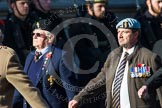 Remembrance Sunday at the Cenotaph in London 2014: Group B36 - Arborfield Old Boys Association. Press stand opposite the Foreign Office building, Whitehall, London SW1, London, Greater London, United Kingdom, on 09 November 2014 at 12:14, image #1941
