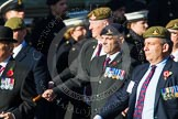 Remembrance Sunday at the Cenotaph in London 2014: Group B38 - Special Observers Association. Press stand opposite the Foreign Office building, Whitehall, London SW1, London, Greater London, United Kingdom, on 09 November 2014 at 12:14, image #1952