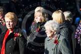 Remembrance Sunday at the Cenotaph in London 2014: Group M3 - Munitions Workers Association. Press stand opposite the Foreign Office building, Whitehall, London SW1, London, Greater London, United Kingdom, on 09 November 2014 at 12:15, image #1983