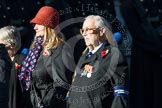 Remembrance Sunday at the Cenotaph in London 2014: Group M3 - Munitions Workers Association. Press stand opposite the Foreign Office building, Whitehall, London SW1, London, Greater London, United Kingdom, on 09 November 2014 at 12:15, image #1985