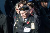 Remembrance Sunday at the Cenotaph in London 2014: Group M5 - Evacuees Reunion Association. Press stand opposite the Foreign Office building, Whitehall, London SW1, London, Greater London, United Kingdom, on 09 November 2014 at 12:15, image #2008