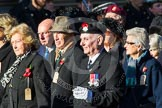 Remembrance Sunday at the Cenotaph in London 2014: Group M5 - Evacuees Reunion Association. Press stand opposite the Foreign Office building, Whitehall, London SW1, London, Greater London, United Kingdom, on 09 November 2014 at 12:15, image #2010