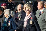 Remembrance Sunday at the Cenotaph in London 2014: Group M5 - Evacuees Reunion Association. Press stand opposite the Foreign Office building, Whitehall, London SW1, London, Greater London, United Kingdom, on 09 November 2014 at 12:15, image #2012
