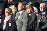 Remembrance Sunday at the Cenotaph in London 2014: Group M5 - Evacuees Reunion Association. Press stand opposite the Foreign Office building, Whitehall, London SW1, London, Greater London, United Kingdom, on 09 November 2014 at 12:15, image #2013