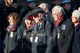 Remembrance Sunday at the Cenotaph in London 2014: Group M5 - Evacuees Reunion Association. Press stand opposite the Foreign Office building, Whitehall, London SW1, London, Greater London, United Kingdom, on 09 November 2014 at 12:15, image #2017