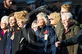 Remembrance Sunday at the Cenotaph in London 2014: Group M5 - Evacuees Reunion Association. Press stand opposite the Foreign Office building, Whitehall, London SW1, London, Greater London, United Kingdom, on 09 November 2014 at 12:15, image #2020