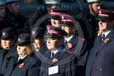 Remembrance Sunday at the Cenotaph in London 2014: Group M7 - Salvation Army. Press stand opposite the Foreign Office building, Whitehall, London SW1, London, Greater London, United Kingdom, on 09 November 2014 at 12:15, image #2030