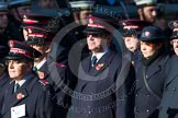 Remembrance Sunday at the Cenotaph in London 2014: Group M7 - Salvation Army. Press stand opposite the Foreign Office building, Whitehall, London SW1, London, Greater London, United Kingdom, on 09 November 2014 at 12:15, image #2031