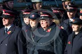 Remembrance Sunday at the Cenotaph in London 2014: Group M7 - Salvation Army. Press stand opposite the Foreign Office building, Whitehall, London SW1, London, Greater London, United Kingdom, on 09 November 2014 at 12:16, image #2032
