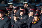 Remembrance Sunday at the Cenotaph in London 2014: Group M7 - Salvation Army. Press stand opposite the Foreign Office building, Whitehall, London SW1, London, Greater London, United Kingdom, on 09 November 2014 at 12:16, image #2033