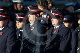 Remembrance Sunday at the Cenotaph in London 2014: Group M7 - Salvation Army. Press stand opposite the Foreign Office building, Whitehall, London SW1, London, Greater London, United Kingdom, on 09 November 2014 at 12:16, image #2037