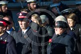 Remembrance Sunday at the Cenotaph in London 2014: Group M7 - Salvation Army. Press stand opposite the Foreign Office building, Whitehall, London SW1, London, Greater London, United Kingdom, on 09 November 2014 at 12:16, image #2040