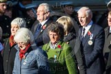 Remembrance Sunday at the Cenotaph in London 2014: Group M8 - NAAFI. Press stand opposite the Foreign Office building, Whitehall, London SW1, London, Greater London, United Kingdom, on 09 November 2014 at 12:16, image #2043