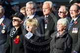 Remembrance Sunday at the Cenotaph in London 2014: Group M9 - Royal Voluntary Service. Press stand opposite the Foreign Office building, Whitehall, London SW1, London, Greater London, United Kingdom, on 09 November 2014 at 12:16, image #2045