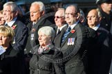 Remembrance Sunday at the Cenotaph in London 2014: Group M9 - Royal Voluntary Service. Press stand opposite the Foreign Office building, Whitehall, London SW1, London, Greater London, United Kingdom, on 09 November 2014 at 12:16, image #2046
