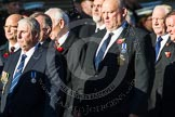 Remembrance Sunday at the Cenotaph in London 2014: Group M11 - National Association of Retired Police Officers. Press stand opposite the Foreign Office building, Whitehall, London SW1, London, Greater London, United Kingdom, on 09 November 2014 at 12:16, image #2053