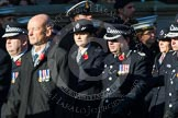 Remembrance Sunday at the Cenotaph in London 2014: Group M12 - Metropolitan Special Constabulary. Press stand opposite the Foreign Office building, Whitehall, London SW1, London, Greater London, United Kingdom, on 09 November 2014 at 12:16, image #2057