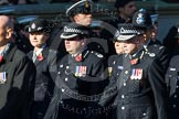 Remembrance Sunday at the Cenotaph in London 2014: Group M12 - Metropolitan Special Constabulary. Press stand opposite the Foreign Office building, Whitehall, London SW1, London, Greater London, United Kingdom, on 09 November 2014 at 12:16, image #2058