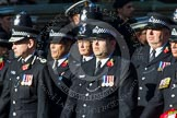 Remembrance Sunday at the Cenotaph in London 2014: Group M12 - Metropolitan Special Constabulary. Press stand opposite the Foreign Office building, Whitehall, London SW1, London, Greater London, United Kingdom, on 09 November 2014 at 12:16, image #2060