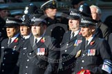 Remembrance Sunday at the Cenotaph in London 2014: Group M12 - Metropolitan Special Constabulary. Press stand opposite the Foreign Office building, Whitehall, London SW1, London, Greater London, United Kingdom, on 09 November 2014 at 12:16, image #2061