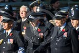 Remembrance Sunday at the Cenotaph in London 2014: Group M12 - Metropolitan Special Constabulary. Press stand opposite the Foreign Office building, Whitehall, London SW1, London, Greater London, United Kingdom, on 09 November 2014 at 12:16, image #2063