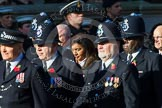 Remembrance Sunday at the Cenotaph in London 2014: Group M12 - Metropolitan Special Constabulary. Press stand opposite the Foreign Office building, Whitehall, London SW1, London, Greater London, United Kingdom, on 09 November 2014 at 12:16, image #2064