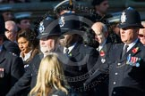 Remembrance Sunday at the Cenotaph in London 2014: Group M12 - Metropolitan Special Constabulary. Press stand opposite the Foreign Office building, Whitehall, London SW1, London, Greater London, United Kingdom, on 09 November 2014 at 12:16, image #2065