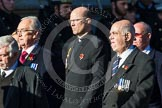 Remembrance Sunday at the Cenotaph in London 2014: Group M14 - London Ambulance Service Retirement Association. Press stand opposite the Foreign Office building, Whitehall, London SW1, London, Greater London, United Kingdom, on 09 November 2014 at 12:16, image #2081