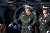 Remembrance Sunday at the Cenotaph in London 2014: Group M15 - St John Ambulance. Press stand opposite the Foreign Office building, Whitehall, London SW1, London, Greater London, United Kingdom, on 09 November 2014 at 12:16, image #2083