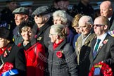 Remembrance Sunday at the Cenotaph in London 2014: Group M23 - Civilians Representing Families. Press stand opposite the Foreign Office building, Whitehall, London SW1, London, Greater London, United Kingdom, on 09 November 2014 at 12:18, image #2150
