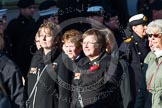 Remembrance Sunday at the Cenotaph in London 2014: Group M23 - Civilians Representing Families. Press stand opposite the Foreign Office building, Whitehall, London SW1, London, Greater London, United Kingdom, on 09 November 2014 at 12:18, image #2162