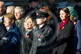 Remembrance Sunday at the Cenotaph in London 2014: Group M25 - Royal Society for the Prevention of Cruelty to Animals (RSPCA). Press stand opposite the Foreign Office building, Whitehall, London SW1, London, Greater London, United Kingdom, on 09 November 2014 at 12:18, image #2192