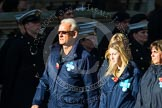 Remembrance Sunday at the Cenotaph in London 2014: Group M26 - The Blue Cross. Press stand opposite the Foreign Office building, Whitehall, London SW1, London, Greater London, United Kingdom, on 09 November 2014 at 12:18, image #2194