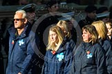 Remembrance Sunday at the Cenotaph in London 2014: Group M26 - The Blue Cross. Press stand opposite the Foreign Office building, Whitehall, London SW1, London, Greater London, United Kingdom, on 09 November 2014 at 12:18, image #2195