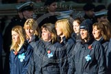 Remembrance Sunday at the Cenotaph in London 2014: Group M26 - The Blue Cross. Press stand opposite the Foreign Office building, Whitehall, London SW1, London, Greater London, United Kingdom, on 09 November 2014 at 12:18, image #2196