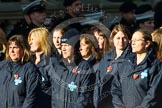 Remembrance Sunday at the Cenotaph in London 2014: Group M26 - The Blue Cross. Press stand opposite the Foreign Office building, Whitehall, London SW1, London, Greater London, United Kingdom, on 09 November 2014 at 12:18, image #2197