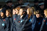Remembrance Sunday at the Cenotaph in London 2014: Group M26 - The Blue Cross. Press stand opposite the Foreign Office building, Whitehall, London SW1, London, Greater London, United Kingdom, on 09 November 2014 at 12:18, image #2198